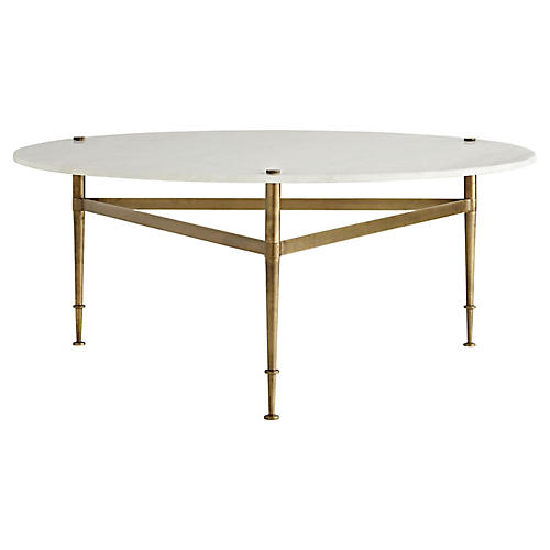 Brittney Coffee Table, White Marble
