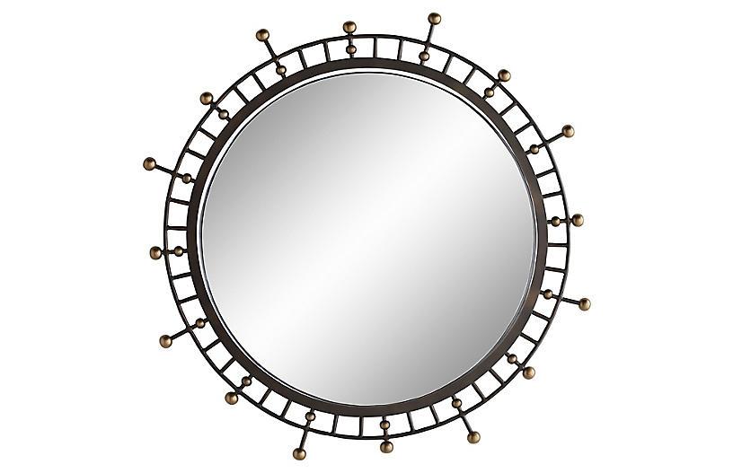 Colleen Wall Mirror, Bronze