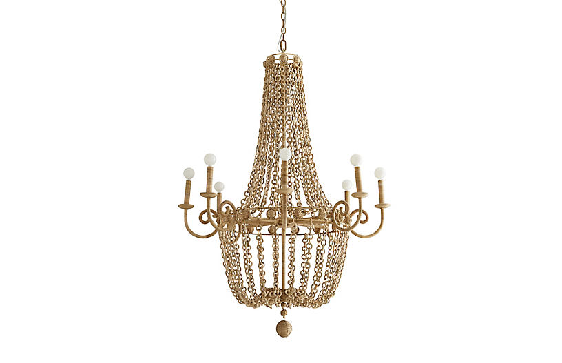 Amalfi Chandelier, Natural
