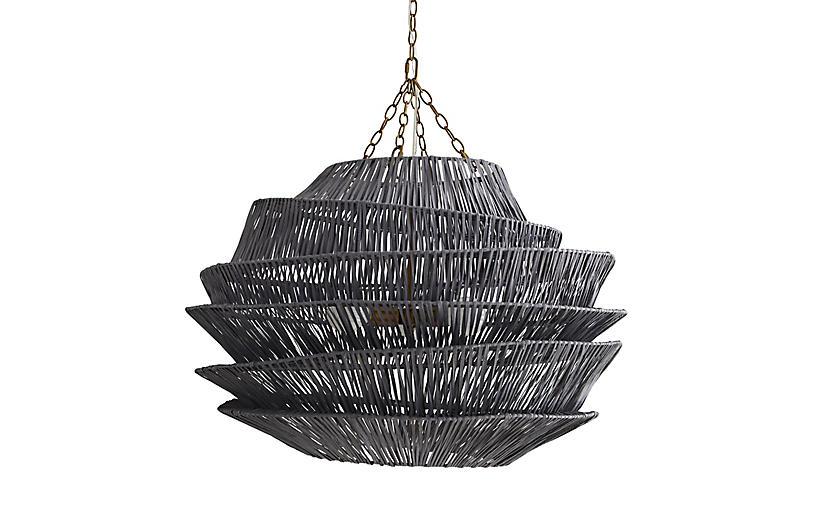 Barton Pendant, Dark Gray Wash