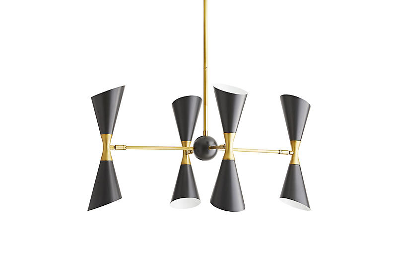 Fuentes Chandelier, Black