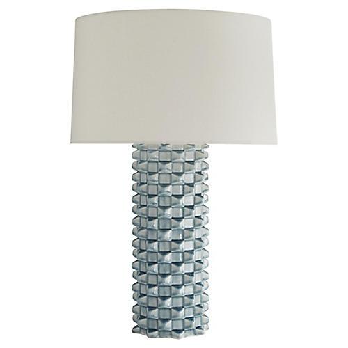 Ari Table Lamp, Celadon Crackle