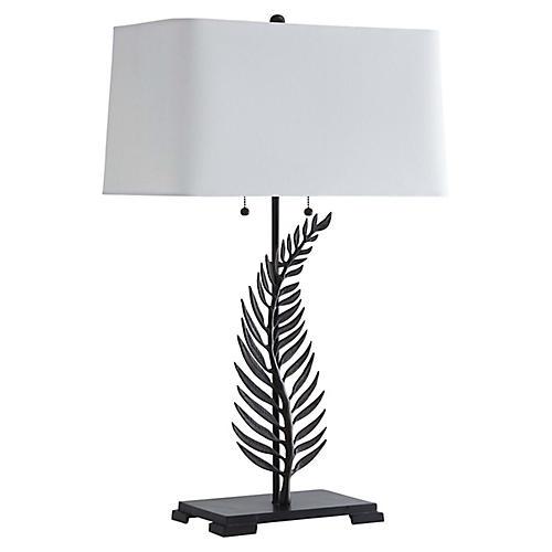 Fern Table Lamp, Bronze