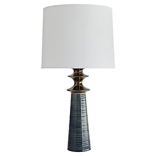 Albright Table Lamp, Peacock
