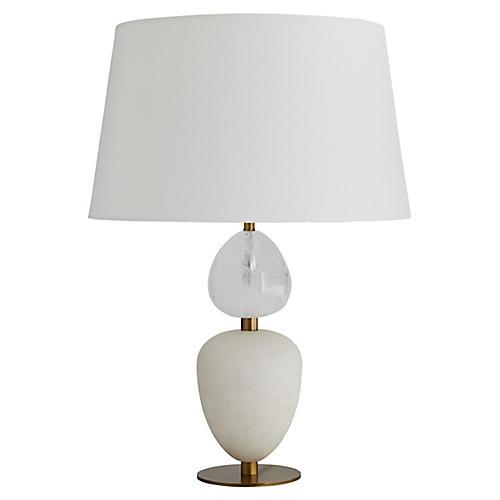 Aubrey Table Lamp, Snow White