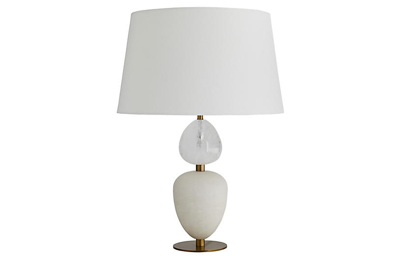 Aubrey Table Lamp, Snow White