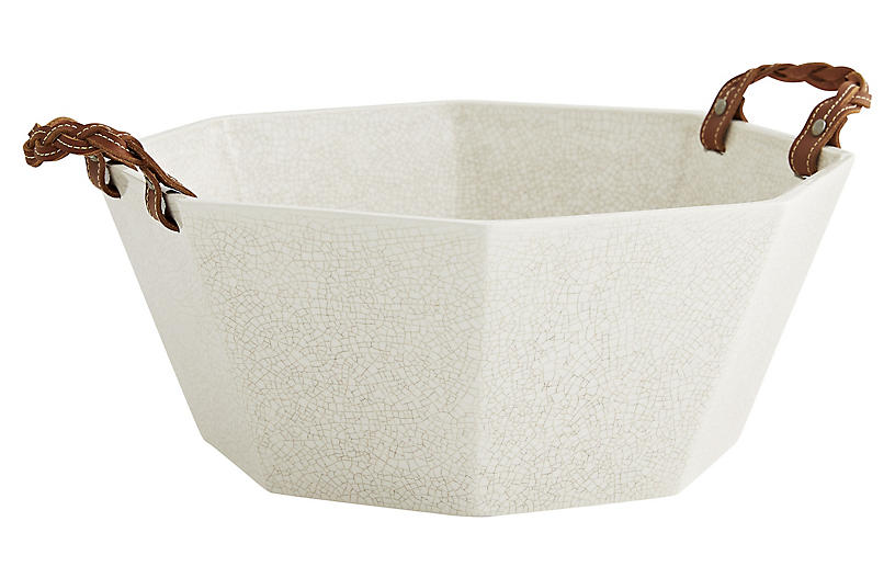 Taylor Centerpiece, White/Natural