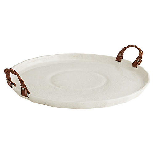 Taylor Tray, White/Natural