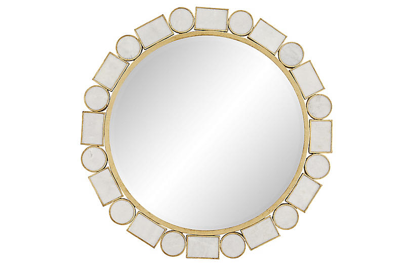 Fontaine Mirror, Gold