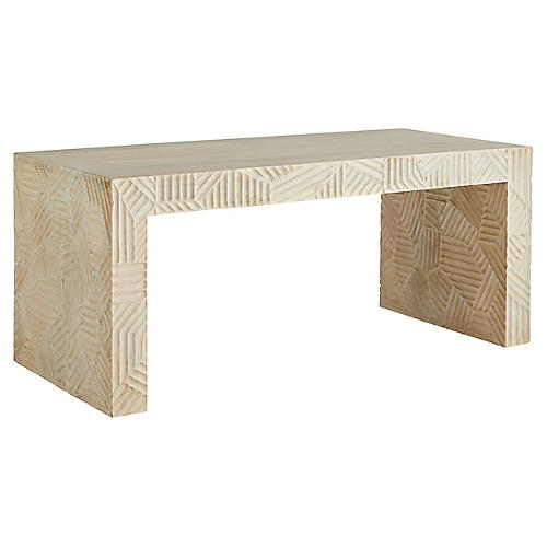 Marsh Cocktail Table, Ivory