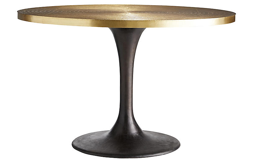 Daryl entry table, Antiqued Gold