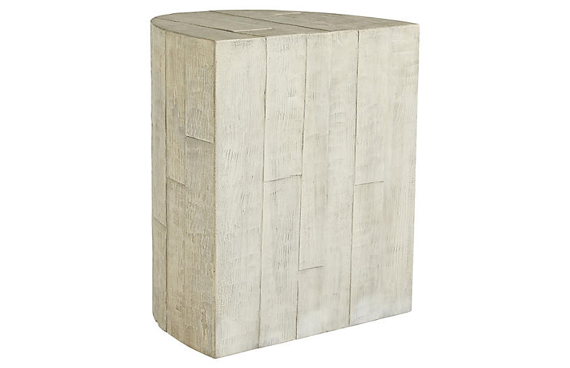 Graeme accent table, Ivory