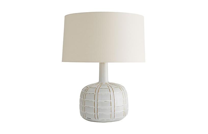 Erickson Table Lamp, Glacial Reactive Glaze