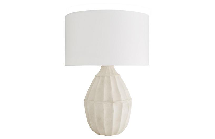 Tangier Table Lamp, White