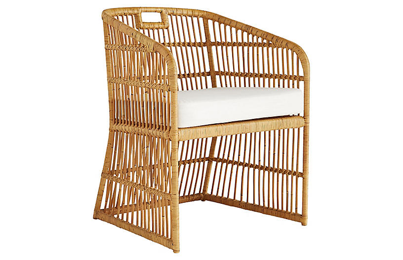 Lyford chair, Natural/Ivory