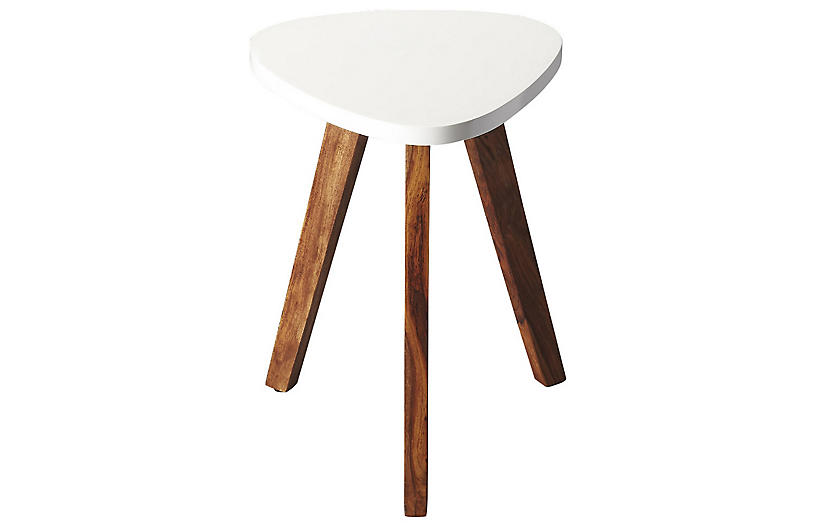 Kiniza Side Table, White