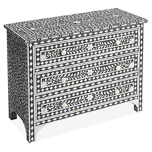 Dalton Dresser, Black/Ivory