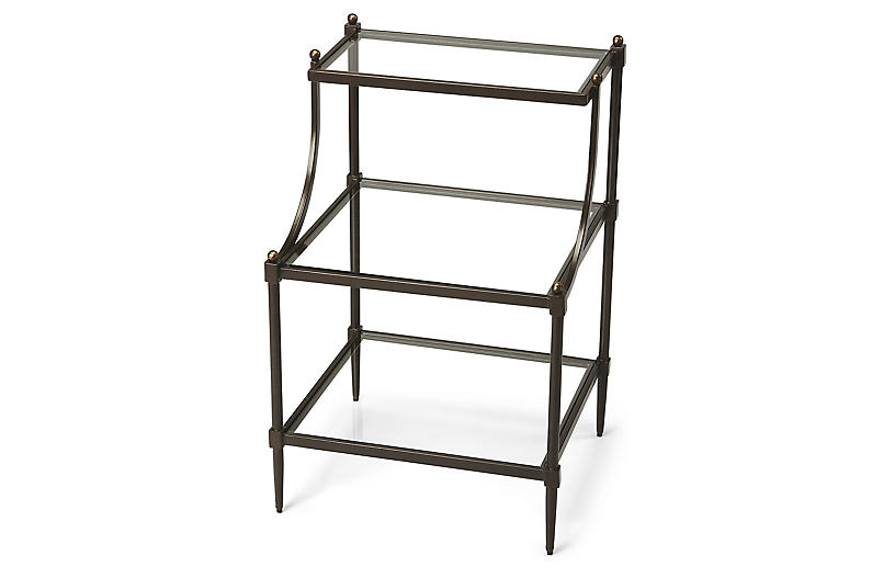 Liv Tiered Side Table, Bronze