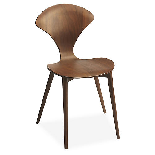 Asher Side Chair, Walnut