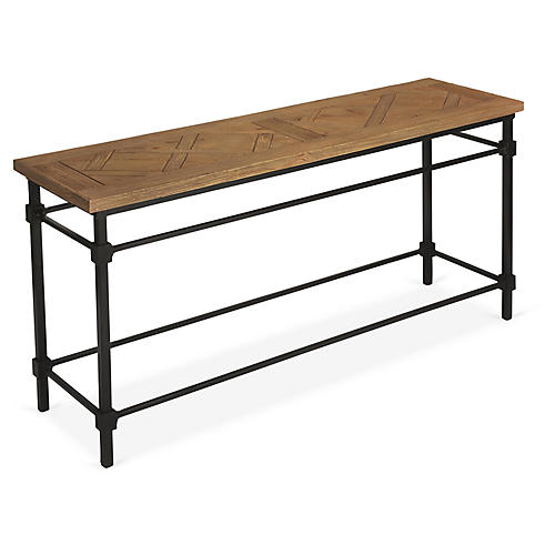 Wesley Console, Pine/Black