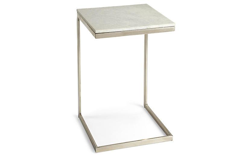 Preston Side Table, White