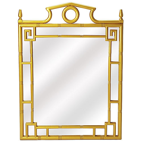 Pagoda Wall Mirror, Pearl Gold