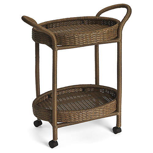 Arias Bar Cart, Brown
