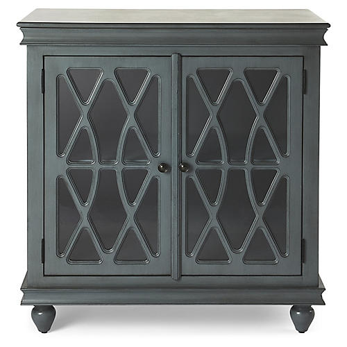 Avery Cabinet, Twilight Blue