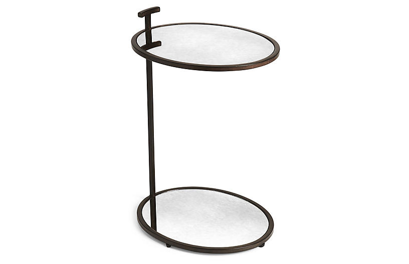 Fairlawn Side Table, Antiqued Bronze