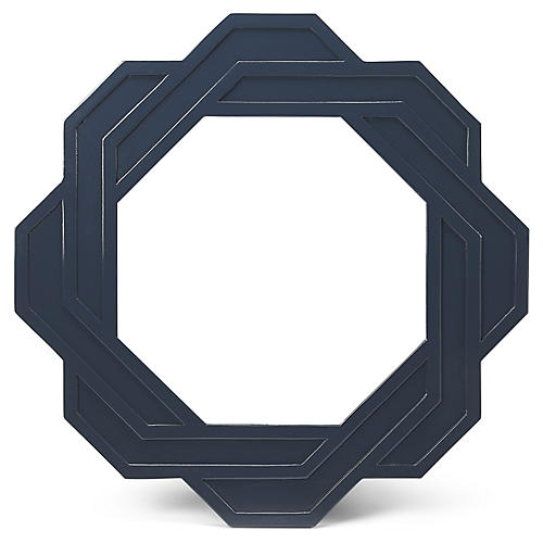 Flora Wall Mirror, Navy