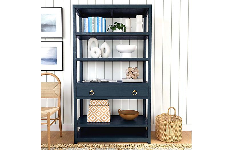 Aiden Bookshelf, Blue