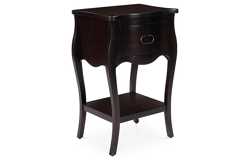 Butler 1 Drawer Nightstand, Brown