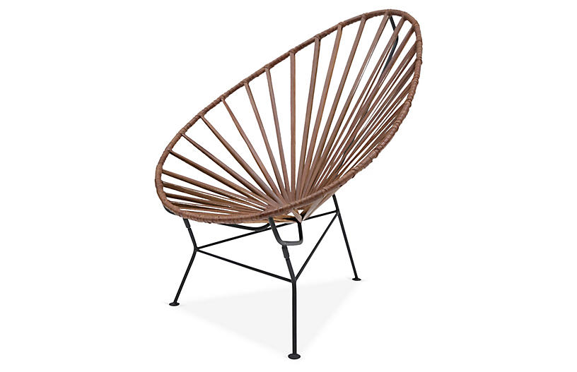 Acapulco Lounge Chair, Tobacco Leather