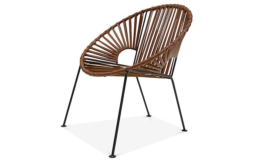 Ixtapa Lounge Chair, Tobacco Leather