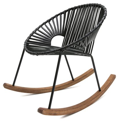 Outstanding Ixtapa Rocking Chair Black Leather Andrewgaddart Wooden Chair Designs For Living Room Andrewgaddartcom