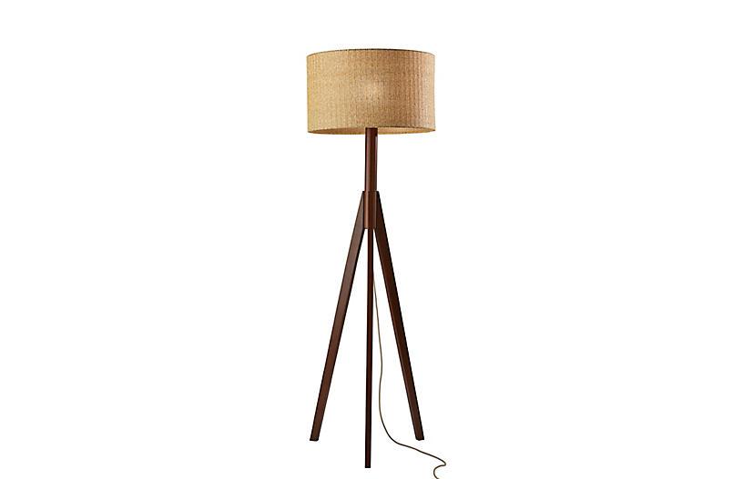 Quinton Floor Lamp, Walnut