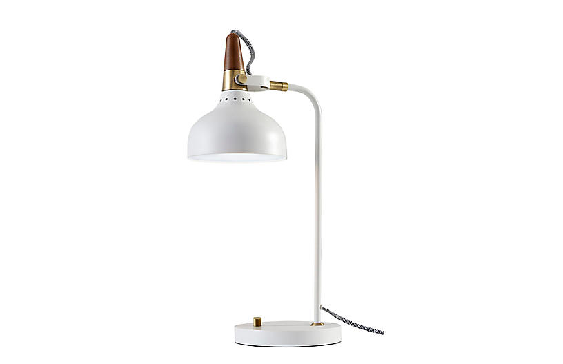 Weston Desk Lamp, White