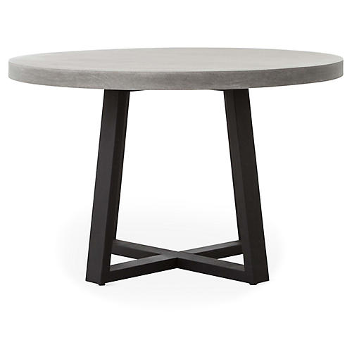 """Cyrus 48"""" Dining Table, Gray"""