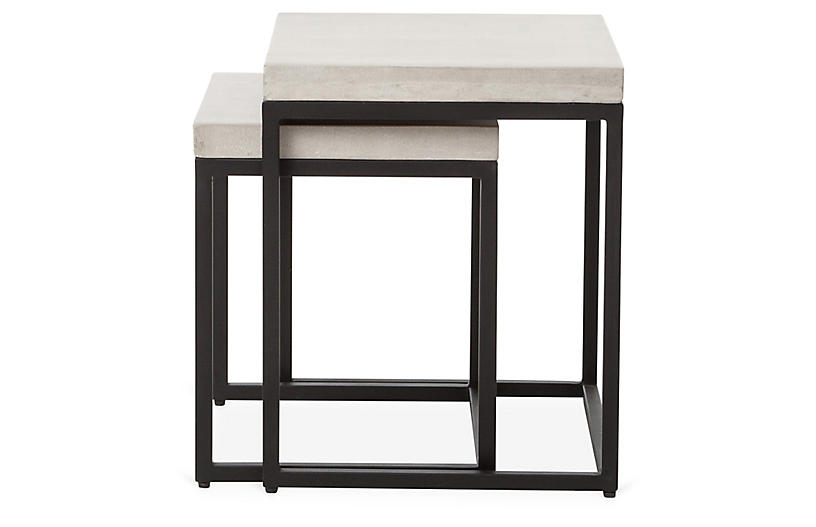 Silas Outdoor Side Tables, Black