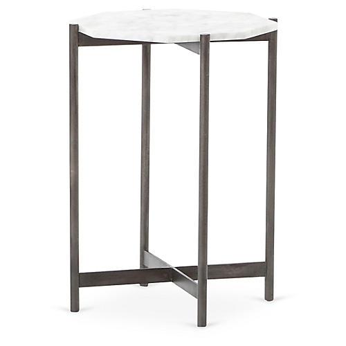 Adi Side Table, White Marble