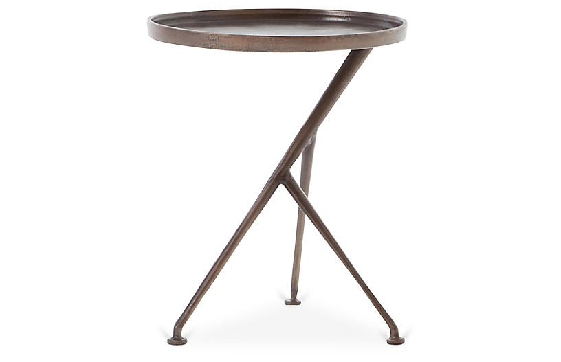 Amari Accent Table, Antique Rust