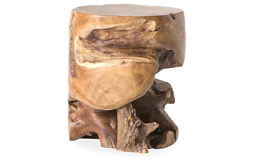 Tanya Teak Stool, Brown