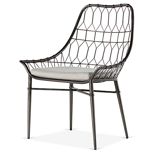 Arman Outdoor Dining Chair, Gray
