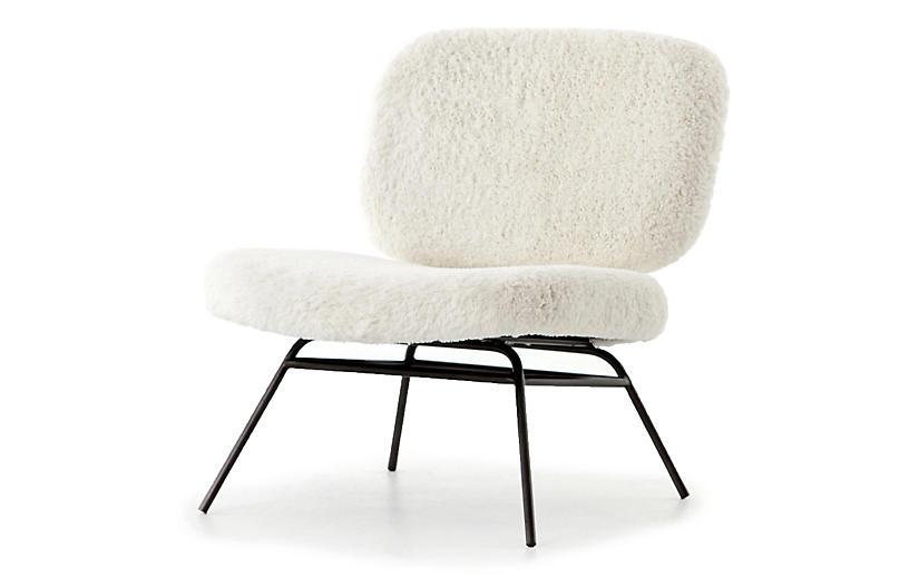 Soren Chair, Ivory Angora