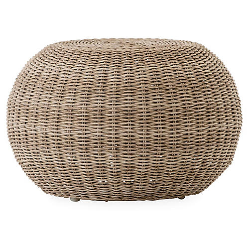Phoenix Outdoor Accent Stool, Natural