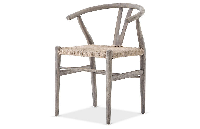 Paxton Outdoor Dining Chair, Gray