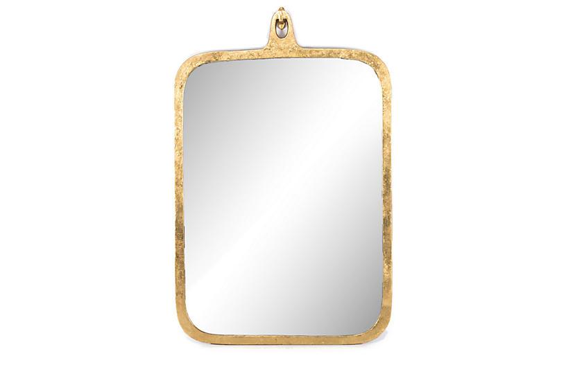 Zane Large Mirror, Gold Leaf