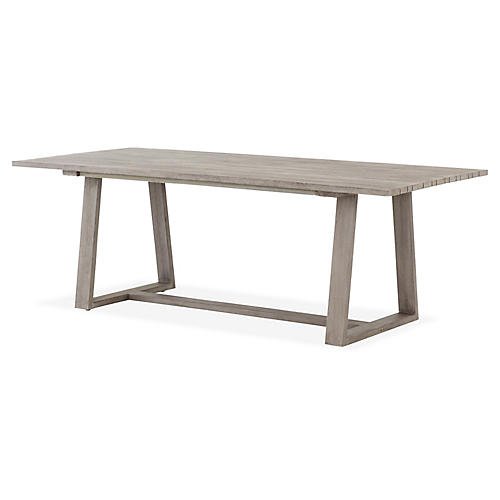 Atherton Outdoor Dining Table, Gray
