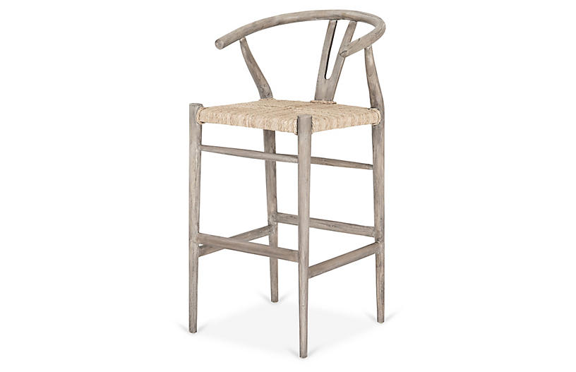 Paxton Outdoor Barstool, Gray