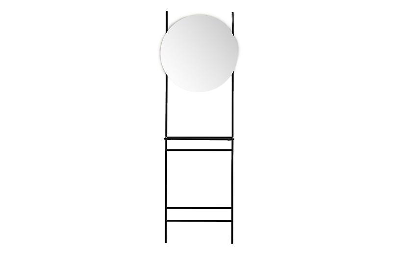 Declan Entryway Mirror, Satin Black